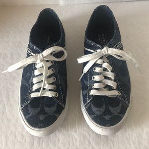 Coach(#Q1402) Lesley Blue Sneakers